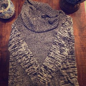 Cowl Neck Gray and Black sweater